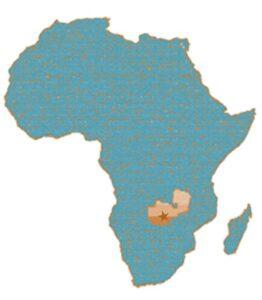 Kaart van Afrika in EFZ kleuren